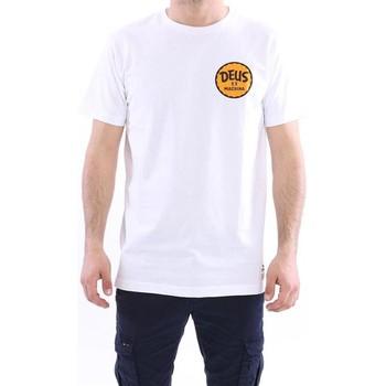 Abbigliamento Uomo T-shirt maniche corte Deus T-SHIRT GIROCOLLO IN COTONE BIANCO STAMPE White
