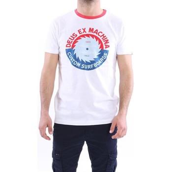Abbigliamento Uomo T-shirt maniche corte Deus T-SHIRT GIROCOLLO IN COTONE BIANCO CON STAMPA White