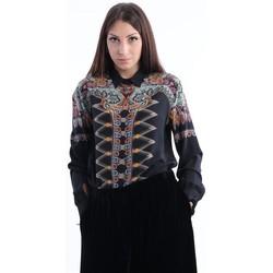 Abbigliamento Donna Top / Blusa Etro CAMICIA OVER  NERA IN SETA STAMPA PAISLEY Black