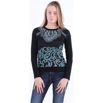 Abbigliamento Donna Maglioni Etro MAGLIA  NERA CON STAMPA PAISLEY Black