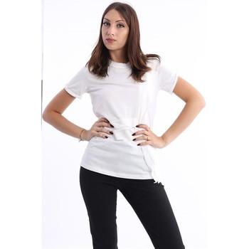 Abbigliamento Donna T-shirts a maniche lunghe Phillip Lim T-SHIRT  BIANCA CON INSERTI IN SETA White