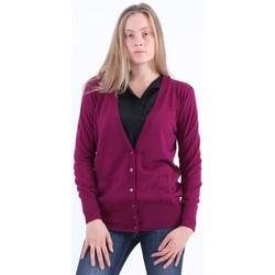 Abbigliamento Donna Gilet / Cardigan Solotre CARDIGAN  COLOR FRAGOLA Red