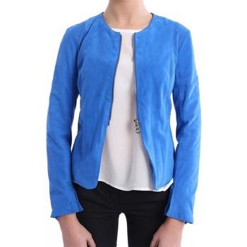 Abbigliamento Donna Giacche / Blazer Lo GIUBBINO CORTO BLU ROYAL Blue