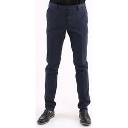 Abbigliamento Uomo Chino Pto5 PANTALONE  IN COTONE INVERNALE STRETCH BLU Blue