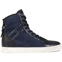 Scarpe Donna Sneakers Hogan REBEL IN CAMOSCIO BLU Blue