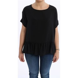 Abbigliamento Donna T-shirt maniche corte Altea T-SHIRT OVER   NERA IN SETA Black