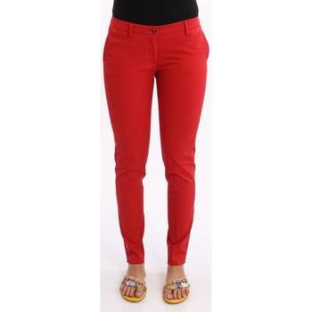 Abbigliamento Donna Chino Gousset PANTALONI  IN COTONE ROSSO Red