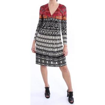 Abbigliamento Donna Abiti corti Etro ABITO  IN SETA CON STAMPA PAISLEY Red