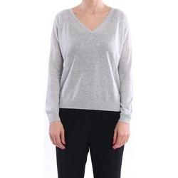 Abbigliamento Donna Maglioni White.7 MAGLIA SCOLLO V IN MISTO VISCOSA ARGENTO Grey