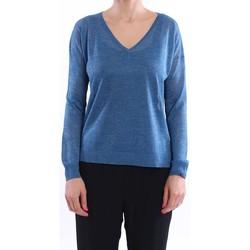 Abbigliamento Donna Maglioni White.7 MAGLIA SCOLLO V MISTO VISCOSA BLU CHIARO Blue