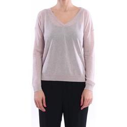 Abbigliamento Donna Maglioni White.7 MAGLIA SCOLLO V IN MISTO VISCOSA CIPRIA Grey