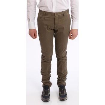 Abbigliamento Uomo Chino Altea PANTALONE  MARRONE CHIARO IN COTONE LAVATO Brown