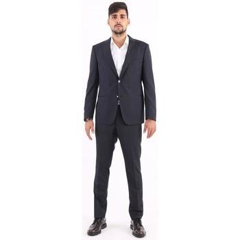 Abbigliamento Uomo Completi Bagnoli Sartoria Napoli ABITO  BLU IN LANA MICRO GESSATO Blue