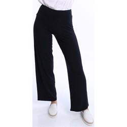 Abbigliamento Donna Pantaloni morbidi / Pantaloni alla zuava Archivio B PANTONI IN MAGLINA GAMBA LARGA BLU Blue