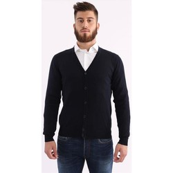 Abbigliamento Uomo Maglioni Altea CARDIGAN  BLU IN LANA STRETCH Blue