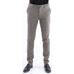 Abbigliamento Uomo Chino Pto5 PANTALONE  IN COTONE INVERNALE STRETCH FANGO Beige