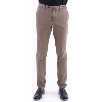 Abbigliamento Uomo Chino Pto5 PANTALONE  IN COTONE INVERNALE COLOR FANGO Beige