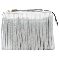 Borse Donna Tracolle Gum bag 3689 with fringes silver Multicolor