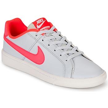 Scarpe Bambina Sneakers basse Nike COURT ROYALE GRADE SCHOOL Grigio / Rosa