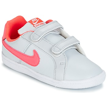 Scarpe Bambina Sneakers basse Nike COURT ROYALE TODDLER Grigio / Rosa