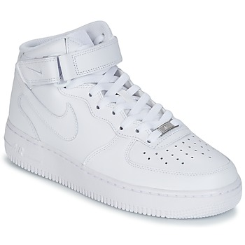 Scarpe Uomo Sneakers alte Nike AIR FORCE 1 MID 07 LEATHER Bianco