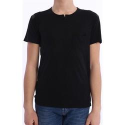 Abbigliamento Uomo T-shirt maniche corte Daniele Fiesoli T-SHIRT NERA CON TASCHINO Black