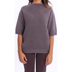 Abbigliamento Donna Maglioni Lorena Antoniazzi MAGLIONE DONNA  CASHM SETA MELANZ Purple