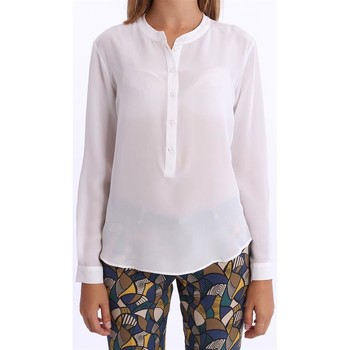 Abbigliamento Donna Top / Blusa White.7 CAMICIA  DONNA IN SETA BIANCA White