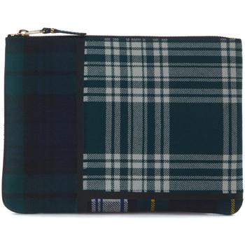 Orologi Gioelli Comme Des Garcons Busta  in lana tartan patchwork verde Verde