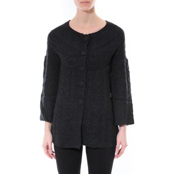 Abbigliamento Donna Maglioni De Fil En Aiguille Gilet MaElla Noir AN 141 Nero