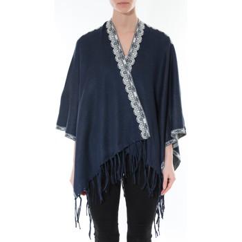 Abbigliamento Donna Maglioni De Fil En Aiguille Poncho Senes  Marine YM 121 Blu
