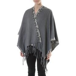 Abbigliamento Donna Maglioni De Fil En Aiguille Poncho Senes  Anthracite  YM 121 Grigio