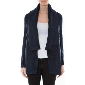 Abbigliamento Donna Maglioni De Fil En Aiguille Gilet F de la passion 1470 Navy Blu