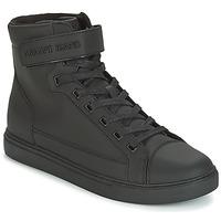 Scarpe Uomo Sneakers alte Armani jeans JEFEM Nero