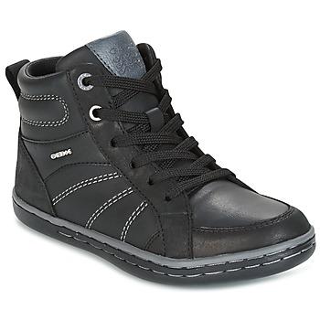 Scarpe Bambino Sneakers alte Geox J GARCIA B. B Nero / Grigio