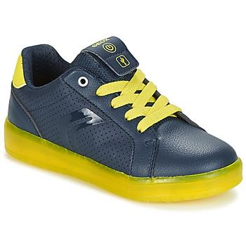 Scarpe Bambino Sneakers basse Geox J KOMMODOR B.B MARINE / Giallo