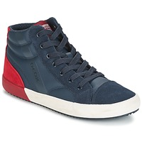Scarpe Bambino Sneakers alte Geox J ALONISSO B. A MARINE / Rosso