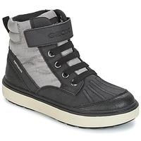Scarpe Bambino Sneakers alte Geox J MATT.B ABX B Grigio / Nero