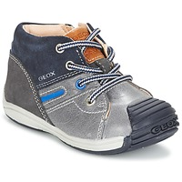 Scarpe Bambino Sneakers alte Geox B TOLEDO B. A Grigio / MARINE