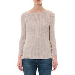 Abbigliamento Donna Maglioni De Fil En Aiguille Pull Lacets Beige Beige