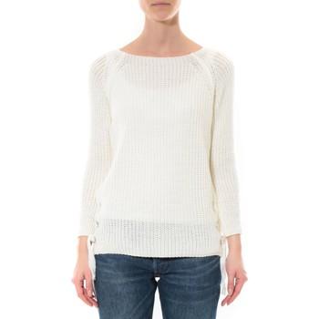 Abbigliamento Donna Maglioni De Fil En Aiguille Pull Lacets Blanc Bianco