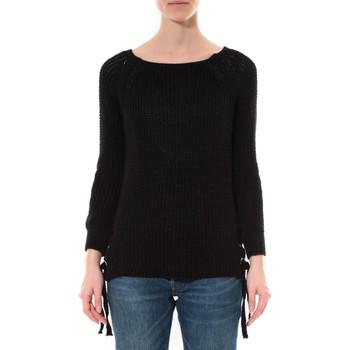 Abbigliamento Donna Maglioni De Fil En Aiguille Pull Lacets Noir Nero