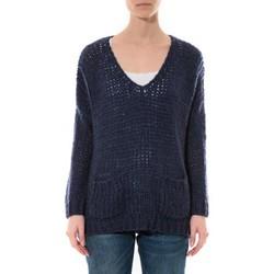 Abbigliamento Donna Maglioni De Fil En Aiguille Pull  Senes  Bleu  Ym135 Blu