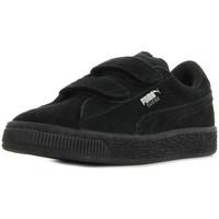 Scarpe Unisex bambino Sneakers Puma Suede 2 straps PS Nero