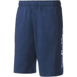 Abbigliamento Uomo Shorts / Bermuda Adidas Athletics Short Essentials Linear Blu Scuro / Bianca