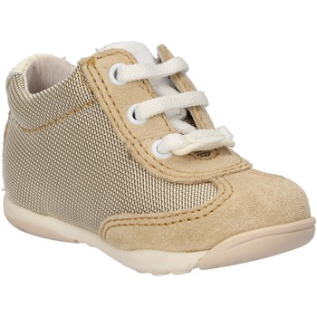 Scarpe Bambino Sneakers Balducci sneakers beige tessuto camoscio AF694 beige