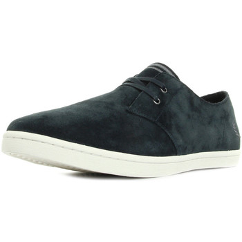 Scarpe Uomo Sneakers Fred Perry Byron Low Suede Navy Falcon Grey