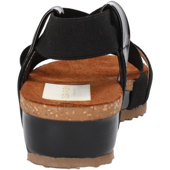 Scarpe Donna Sandali Olga Rubini sandali nero tessuto vernice AF792 nero