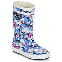 Scarpe Bambina Stivali da pioggia Aigle LOLLY POP GLITTERY Blu