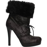 Scarpe Donna Stivaletti Pinko scarpe donna  stivaletti nero camoscio pelliccia AF906 nero